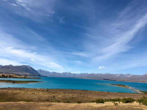 Atemberaubende Aussicht auf Lake Taupo